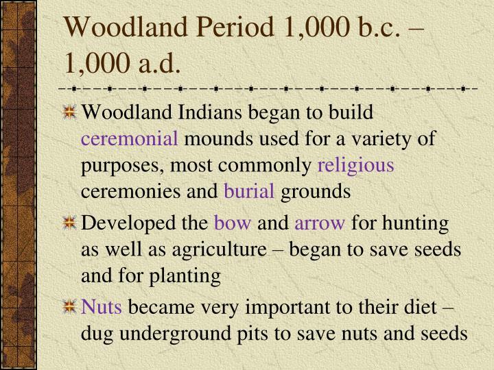 Woodland Period 1,000