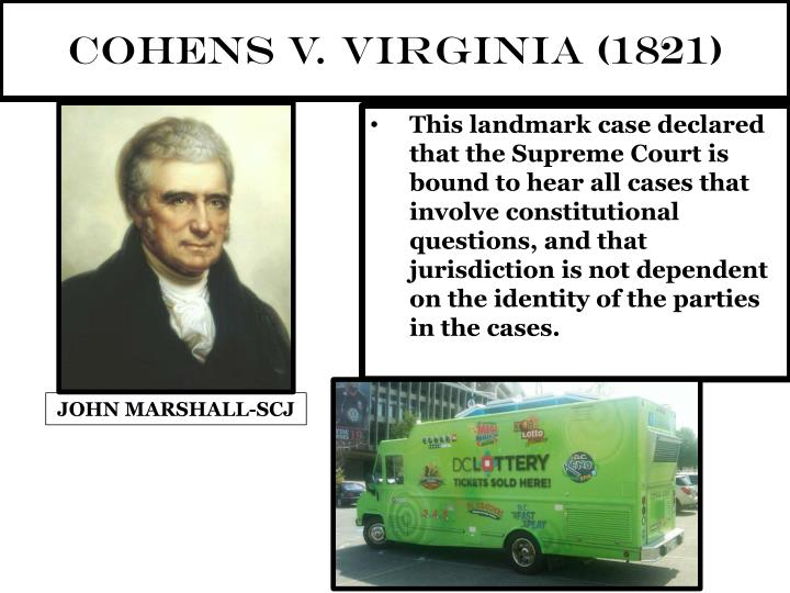 What was the Cohens vs. Virginia case about?