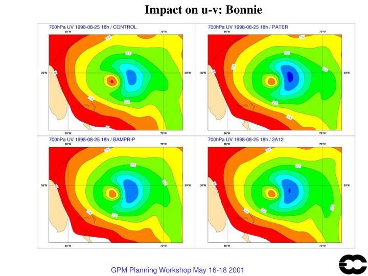 Impact on u-v: Bonnie