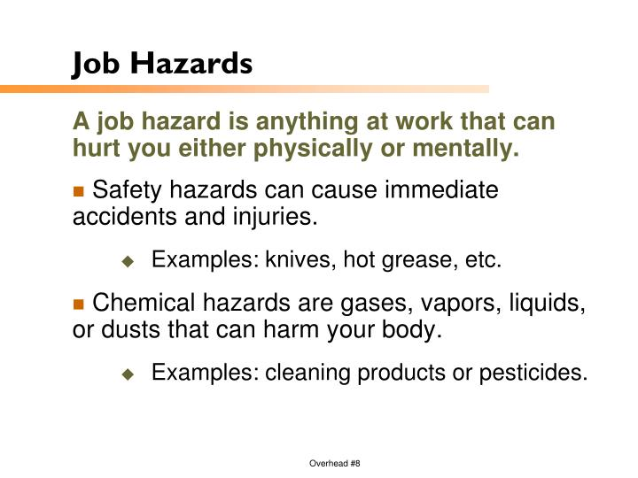 Job Hazards