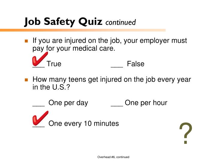 Job Safety Quiz