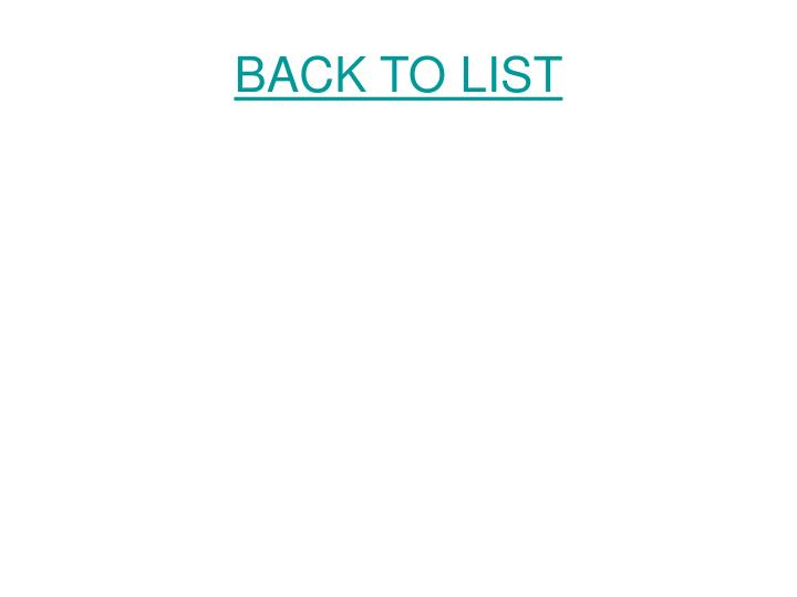 BACK TO LIST