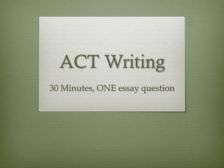 one minute essay writing