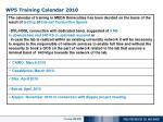 wp5 training calendar 2010