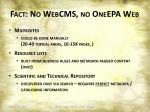 fact no webcms no oneepa web