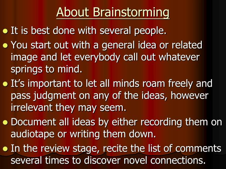About Brainstorming
