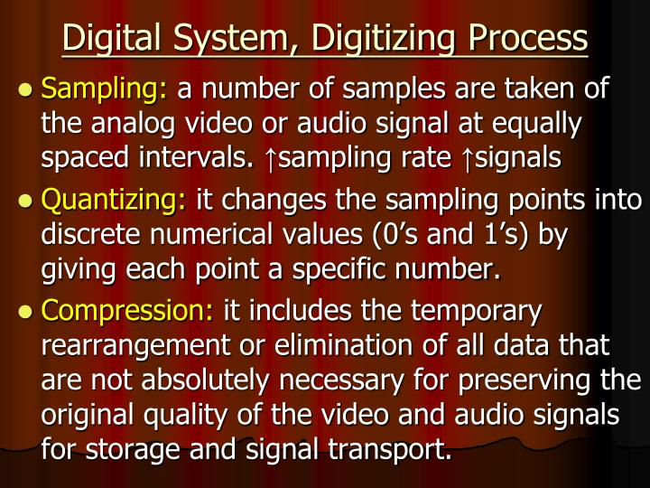 Digital System, Digitizing Process