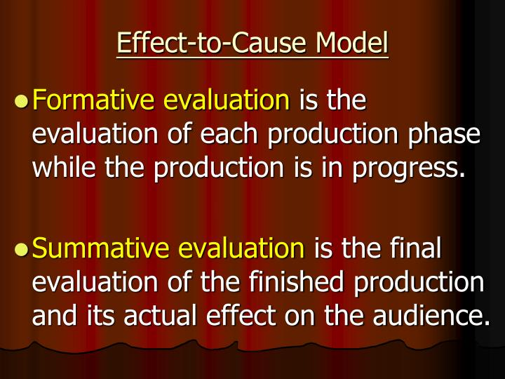 Effect-to-Cause Model