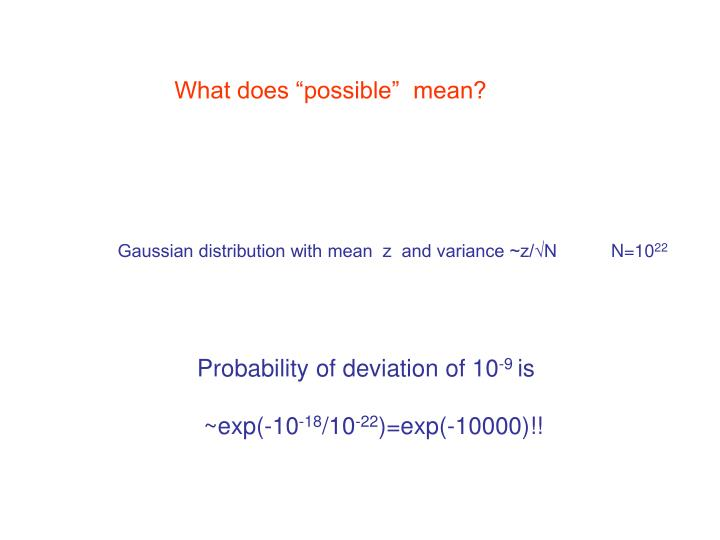 Gaussian distribution with mean  z  and variance ~z/√N