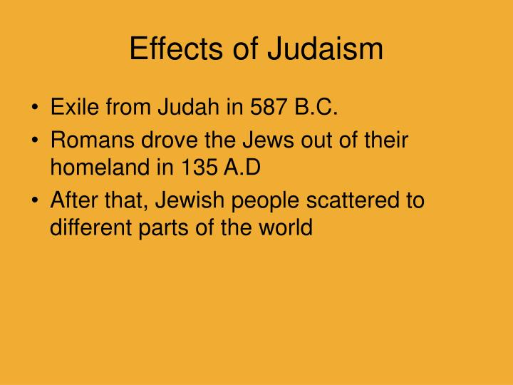 Effects of Judaism