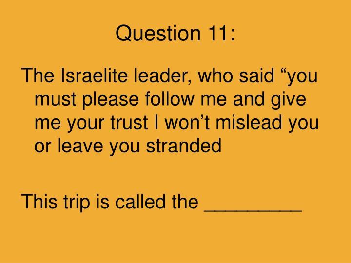 Question 11: