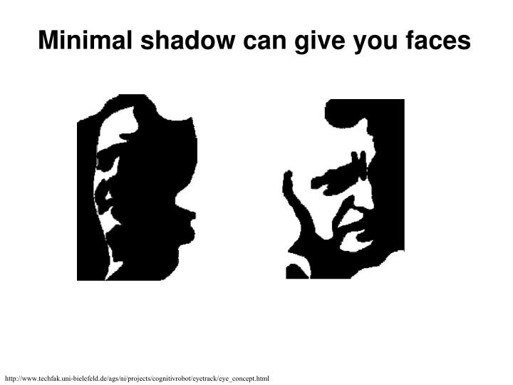 Minimal shadow can give you faces