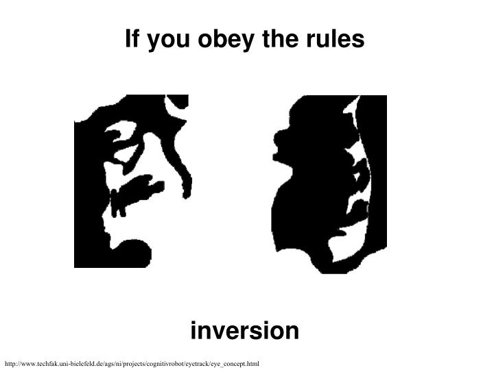 If you obey the rules
