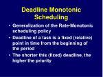 deadline monotonic scheduling