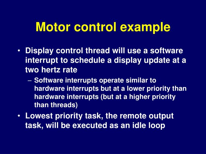 Motor control example