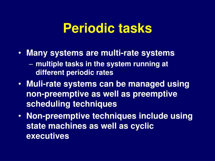 Periodic tasks