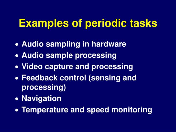 Examples of periodic tasks