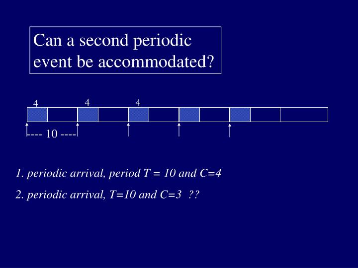 Can a second periodic event be accommodated?