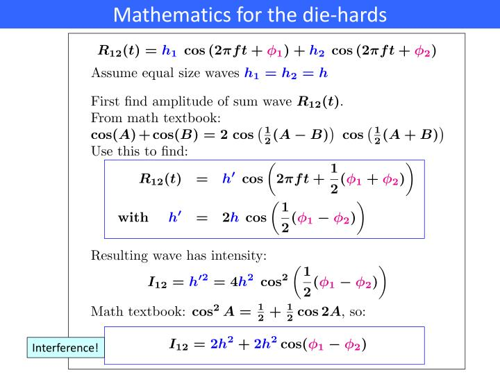 Mathematics for the die-hards