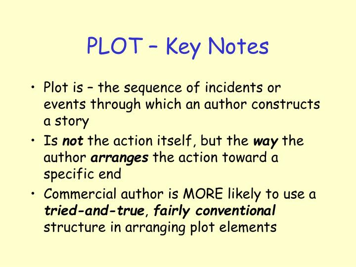 Plot key notes