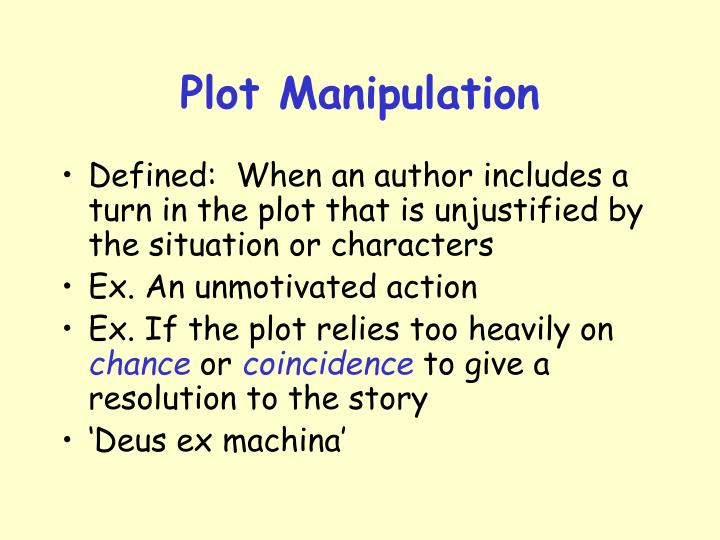 Plot Manipulation
