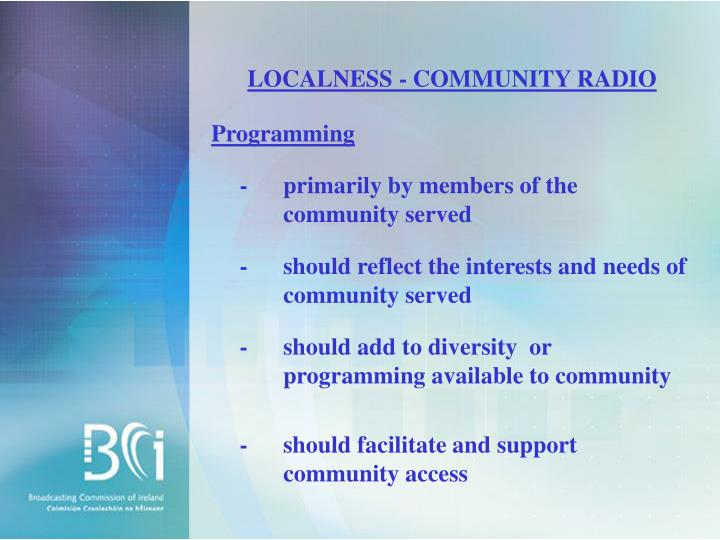 LOCALNESS - COMMUNITY RADIO