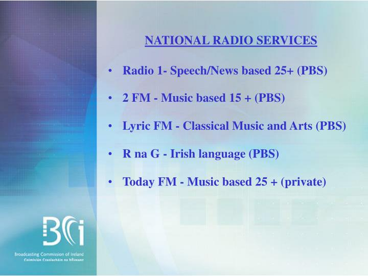 NATIONAL RADIO SERVICES