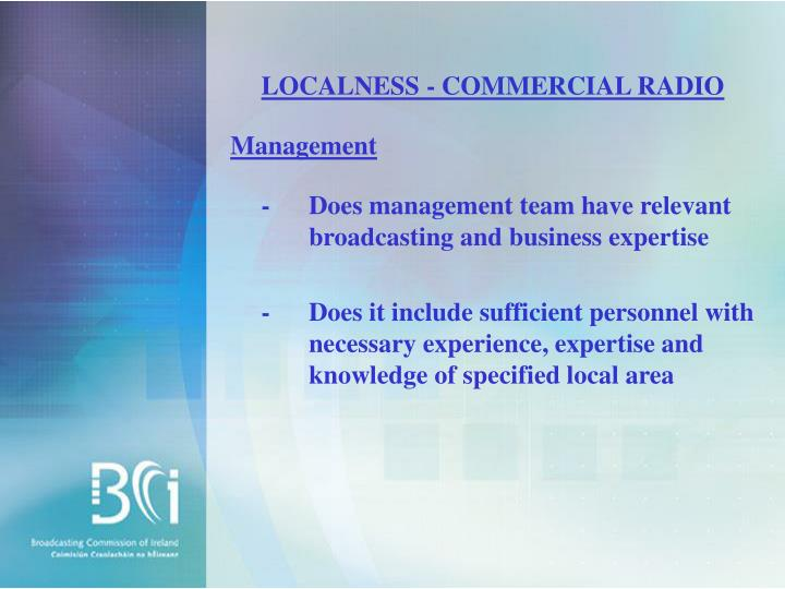 LOCALNESS - COMMERCIAL RADIO