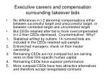 executive careers and compensation surrounding takeover bids4