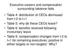 executive careers and compensation surrounding takeover bids5
