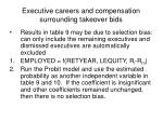 executive careers and compensation surrounding takeover bids8