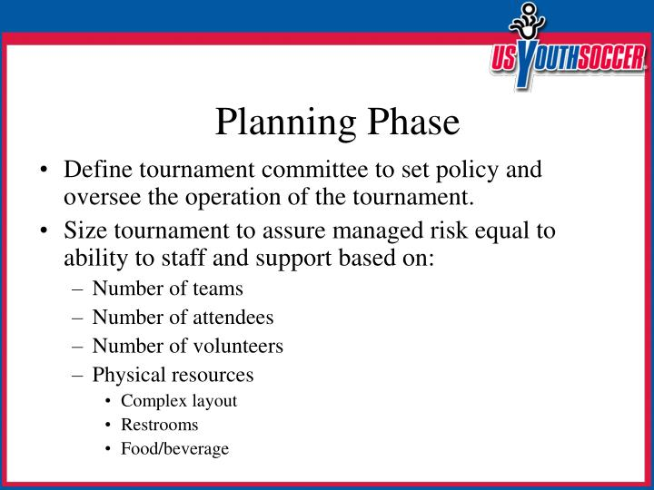 Define tournament committee to set policy and oversee the operation of the tournament.