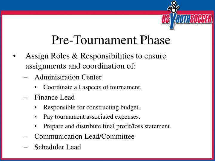 Assign Roles & Responsibilities to ensure assignments and coordination of: