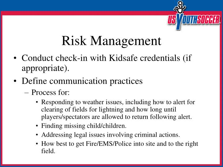 Conduct check-in with Kidsafe credentials (if appropriate).