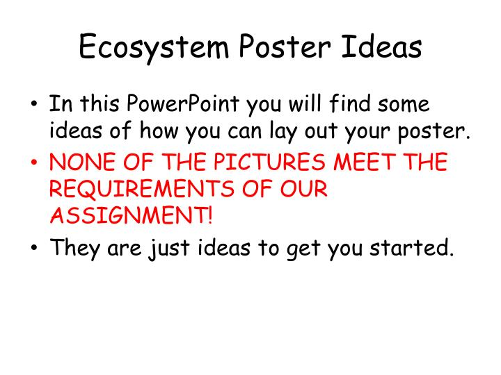 Ecosystem poster ideas
