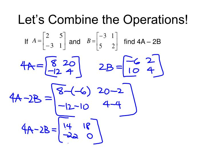 Let's Combine the Operations!