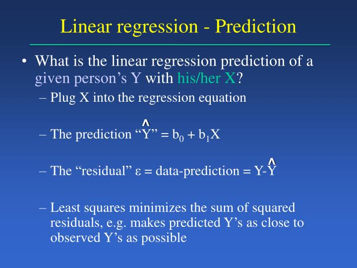 Linear regression - Prediction