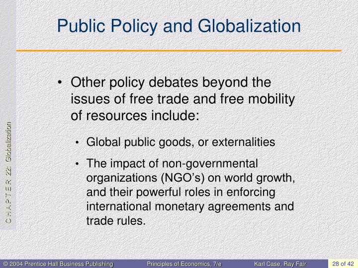 Public Policy and Globalization