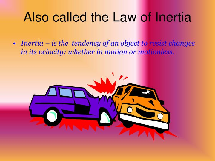Also called the Law of Inertia