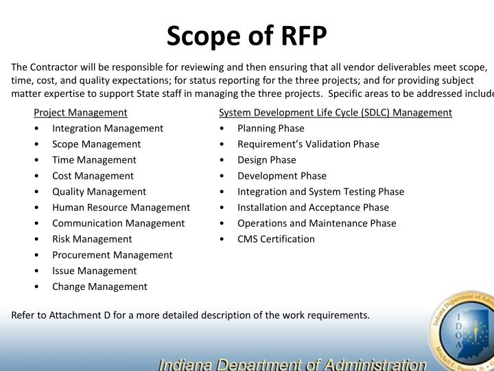 Scope of RFP