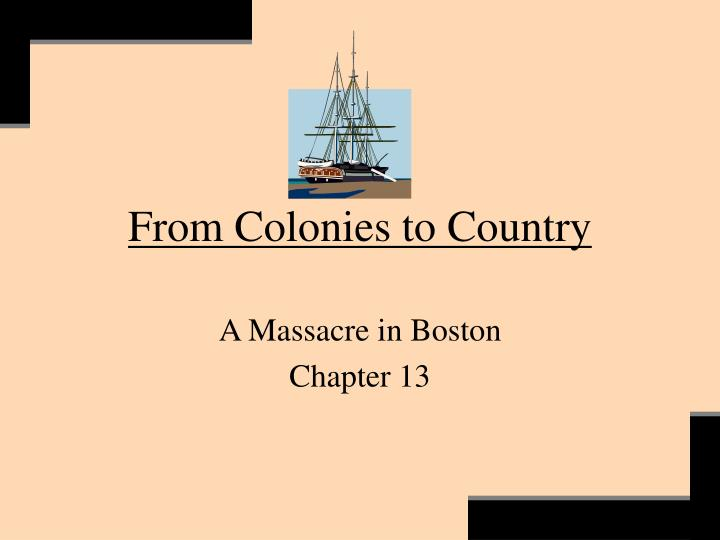 From colonies to country