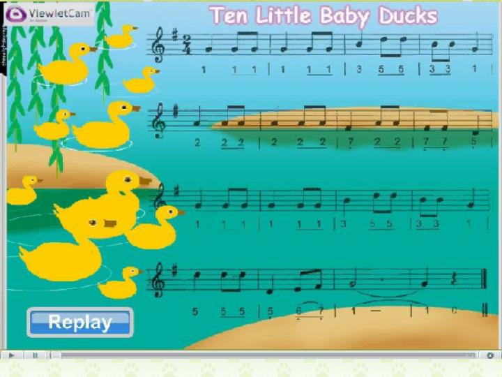 Let's sing: Ten Little Baby Ducks