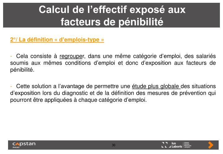 Calcul de l'effectif exposé aux facteurs de pénibilité