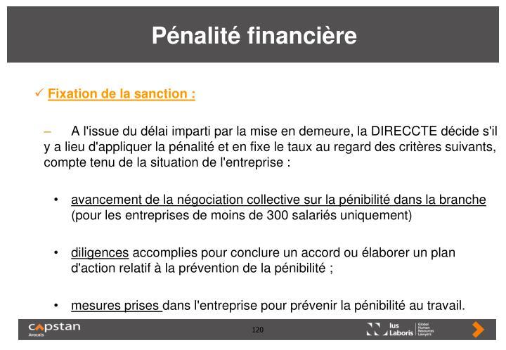 Pénalité financière
