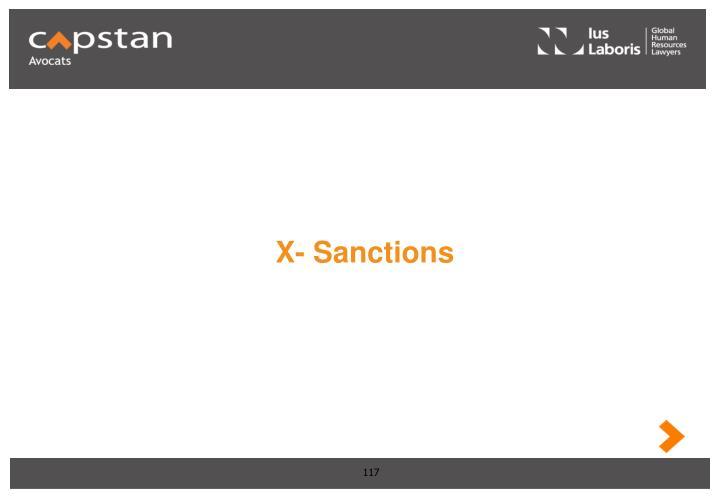 X- Sanctions