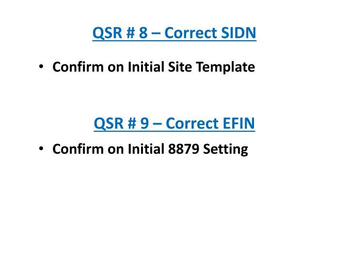 QSR # 8 – Correct SIDN