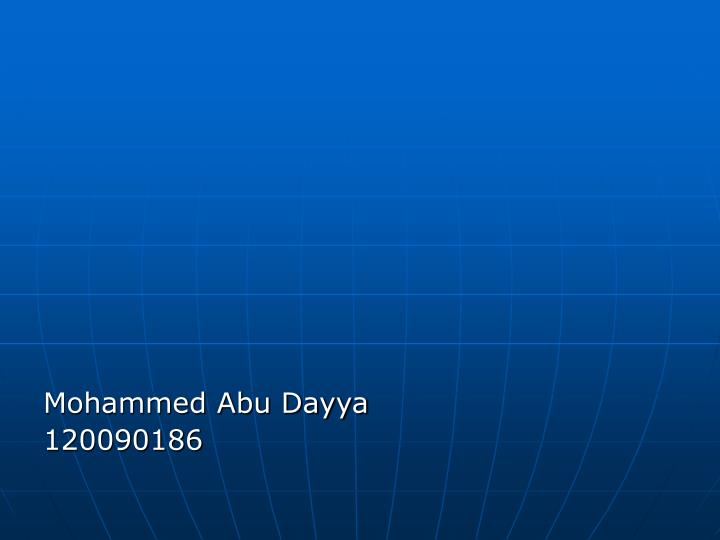 Mohammed Abu Dayya