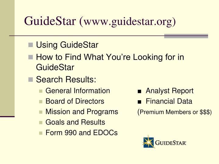 GuideStar (