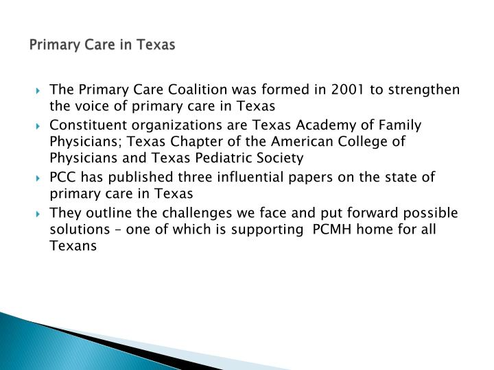Primary Care in Texas