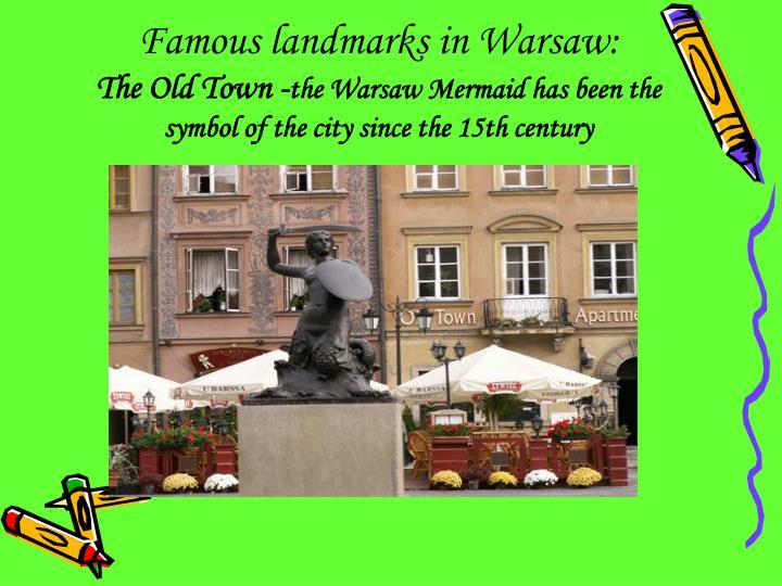 Famous landmarks in Warsaw: